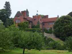 The house from the extensive orchard
