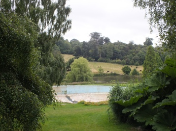 The swimming pool, fed by a brook