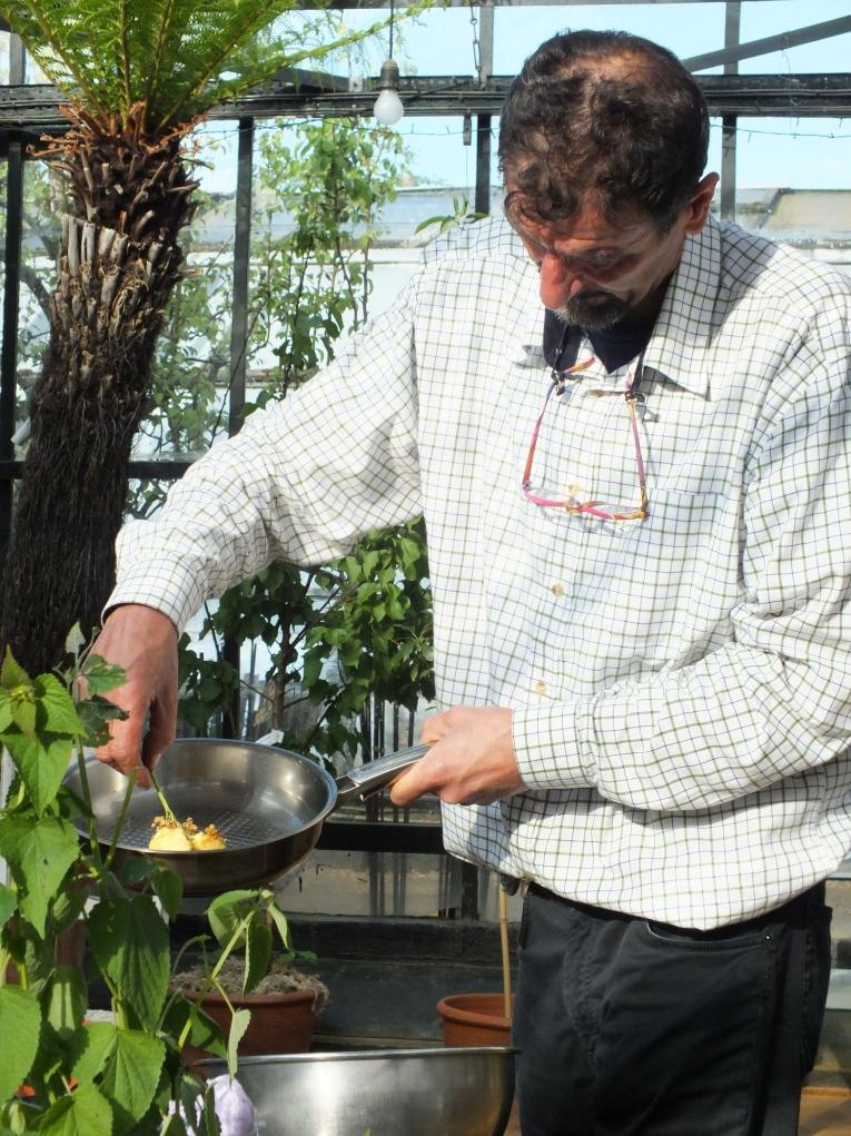 The maestro making elderflower fritters