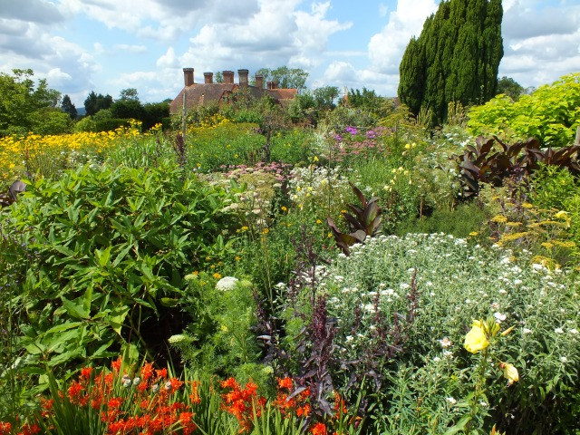 Great Dixter, Peacock Garden, High Garden and Orchard Garden – a riotous symphony!