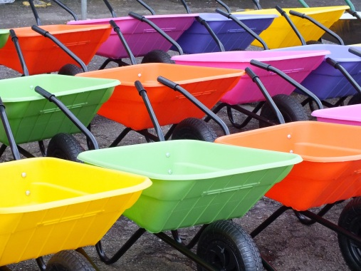 wheelbarrows colours