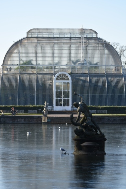 The Palm House and a frozen lake